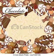 chocolate candy borders. Fine Borders Background With Chocolate Candy  Csp11297726 To Chocolate Candy Borders