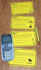 quadratic word problems task cards trinomials
