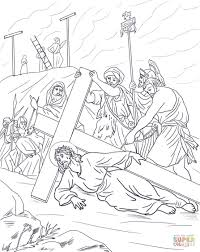 Jesus Stat Simple Stations Of The Cross Coloring Pages - Coloring ...