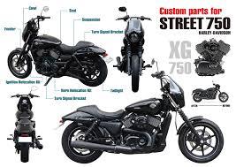 custom parts for street750 harley davidson easyriders tokyo japan