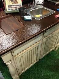 spray paint copper metal to your laminate countertops interesting