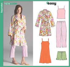 Pajama Patterns Stunning New Look 48 Misses Pajama Pants Shorts Robe And Knit Nightgown