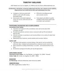 How To Make Resume For Cashier Job Free Resume Example And