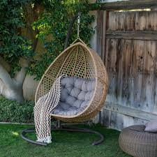 island bay cayman resin wicker hanging double egg chair with cushion and stand com