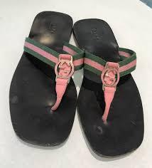 gucci slides. gucci pink green logo slides. pink/green. size 38 slides