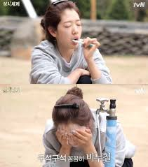 actress park shin hye was the variety show three meals a day members favorite guest this summer park shin hye was courteous and cooked delicious food for