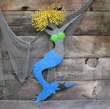 custom made mermaid wall metal art recycled metal ocean decor wall hanging beach house wall sculpture