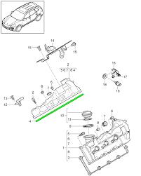 porsche cayenne engine valve cover gasket  engine valve cover gasket cyl 1 3 porsche 958 cayenne macan pa ra