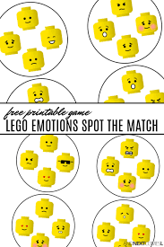 Lego Feelings Chart Free Printable Lego Emotions Spot The Match Game And Next