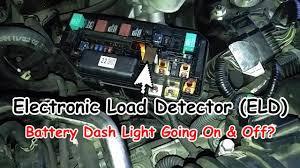 2002 Honda Crv Battery Light On Battery Dash Light On Off Honda Electronic Load Detector Malfunction