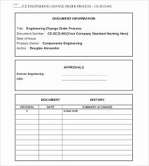Change Order Template Excel Stanley Tretick