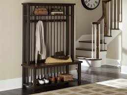 Hall Storage Bench And Coat Rack Hallway Storage Bench with Coat Racks Home Improvement 100 38