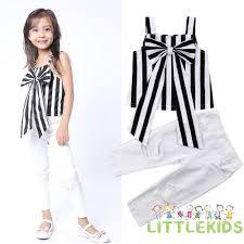 Set áo sọc ngang + quần dài thời trang cho bé gái giảm chỉ còn 137,955 đ