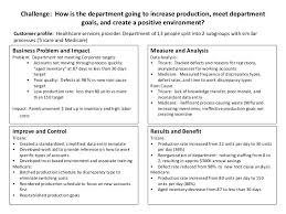 Challenge How Is The Department Going To Increase Production Meet ...