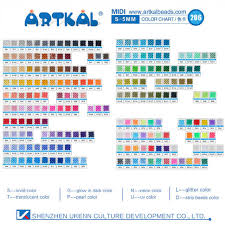 Bead Color Chart Us 375 0 159 Solid Colors Artkal Beads 1000 Pcs Bag Midi 5mm Perler Beads Kids Handicraft Toys In Puzzles From Toys Hobbies On Aliexpress