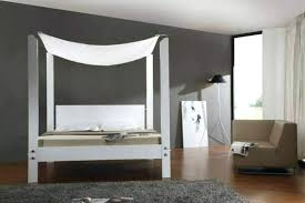 Wood Platform Canopy Bed Wooden Extraordinary Contemporary Frame ...