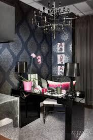 black home office. Kardashian Office Black Home