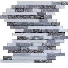 zeugma tc15z 106 glass mosaic tile 12x12 gray white outdoor indoor wall backsplash tub shower vanity