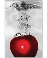 roderick stevens red apple splash 22 x 32 canvas wall art on black and white with a splash of red wall art with roderick stevens red apple splash 22 x 32 canvas wall art wall