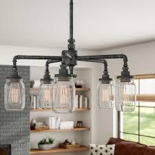 Kitchen chandelier lighting Island Bryn 5light Shaded Chandelier Wayfair Chandelier For Kitchen Wayfair
