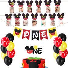 HEETON Mickey Mouse First Birthday Set ...