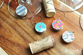 easy diy wine cork ornaments for wine glasses diy wine glass charms diy projects