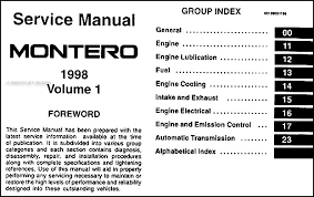 1998 mitsubishi montero repair shop manual set original find out what is covered by clicking here to see page 2 of the table of contents covers all 1998 mitsubishi montero models except montero sport