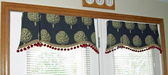 Window Valances and Toppers French Door Artichoke Valance