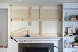 how to hang a tv over a fireplace