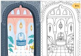 Coloring can be a great way to relax. Procreate Friendly Coloring Pages Brooke Glaser