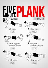 Plank Exercise Chart Visual Workout Five Minute Plank To Abs Of Steel Huffpost