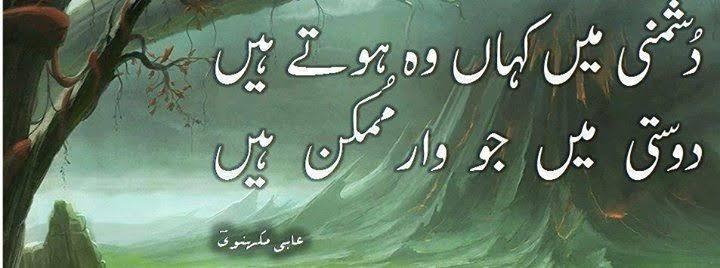 sher o shayari on friendship in urdu