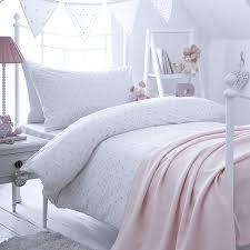 dotty organic cotton duvet cover pink