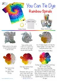 Tie Dye Swirl Design Learn How To Tie Dye A Rainbow Spiral Swirl Pattern How To