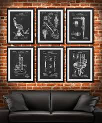 set of 6 dental art posters dentist patent by ultraprint on etsy on wall art dental office with first toothbrush patent poster dental art dental office decor