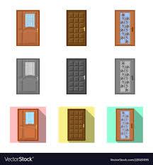 Door Vector Design Design Of Door And Front Logo Set Of Door