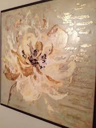 orange painting cream painting