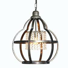 metal cage pendant light with crystals industrial kmart
