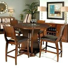 dining tables round counter height dining table sets 5 piece high top room tables in