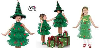 10 Homemade Christmas Tree Costume Ideas For Girls U0026 Kids 2014 Girls Christmas Tree Dress