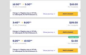 megabus one dollar tickets