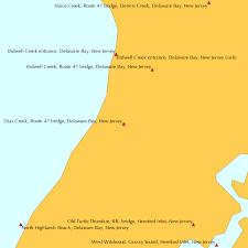 Dias Creek Route 47 Bridge Delaware Bay New Jersey Tide Chart