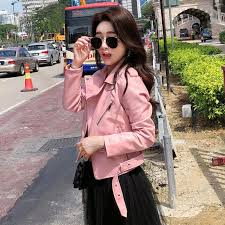 2019 zhisilao pu jacket maxi leather motorcycle jacket black casual er pink autumn winter coat femme bolero plus size from liangcloth 50 95 dhgate