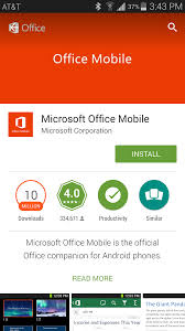 Office Dowload Download The Office 365 Mobile App For Android Phones Library