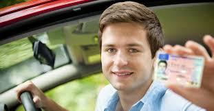 man holding non irish drivers licence