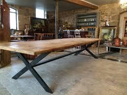 Rectangular Wooden & Iron Table - Harmonie du Logis