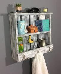 bathroom shelves with hooks off 54