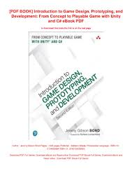 Introduction To Game Design Prototyping And Development Pdf Free Download Pdf Book Introduction To Game Design Prototyping And