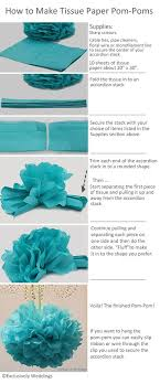 How To Make Hanging Paper Ball Decorations Simple How To Make Tissue Paper PomPoms Paper Pom Poms Tissue Paper And