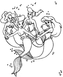 Small Picture Free Coloring Pages Little Mermaid
